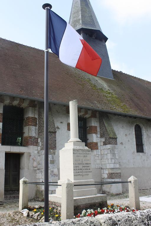 Gerbe au monument aux morts